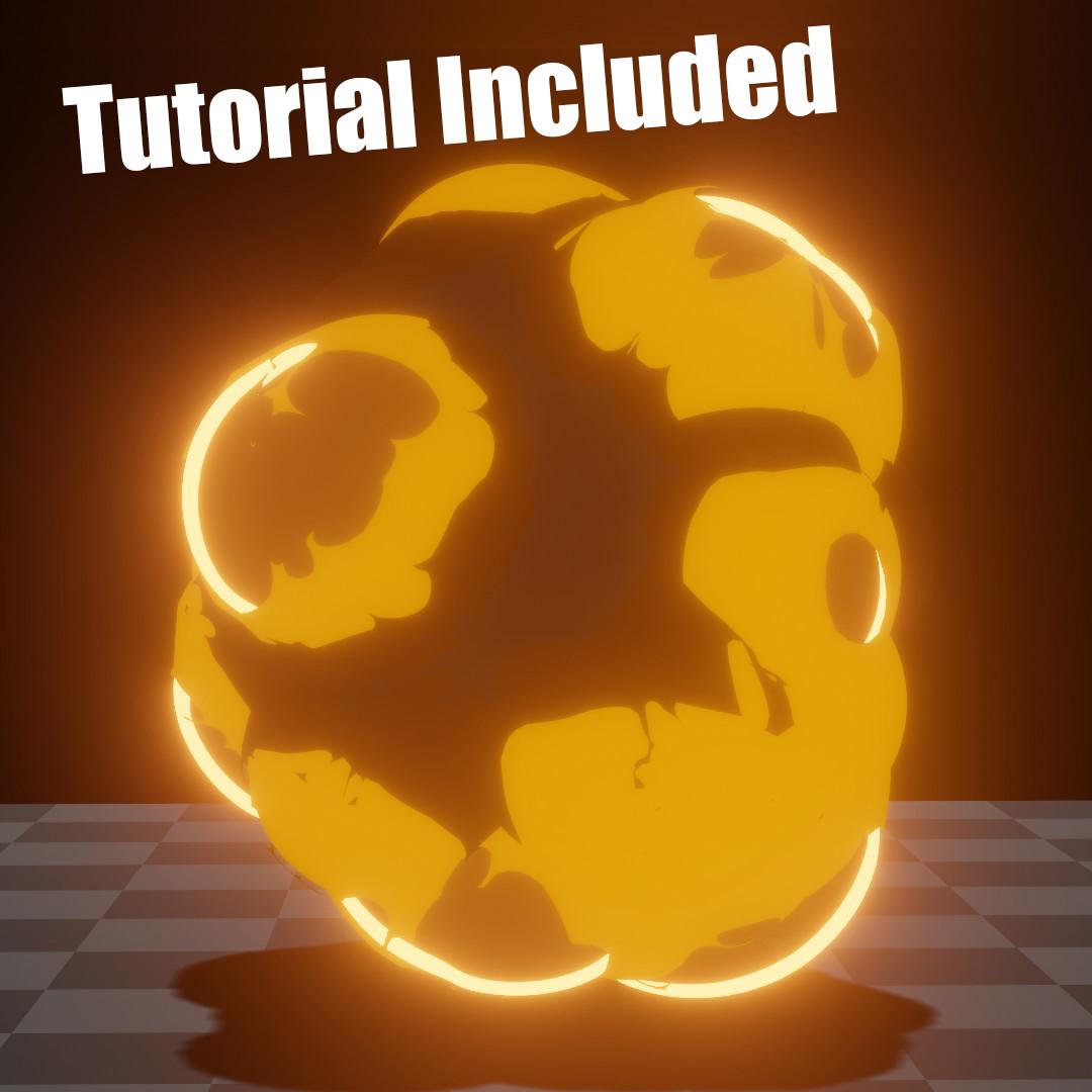 Blender 3d anime explosion
