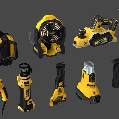 Dewalt - low poly tools