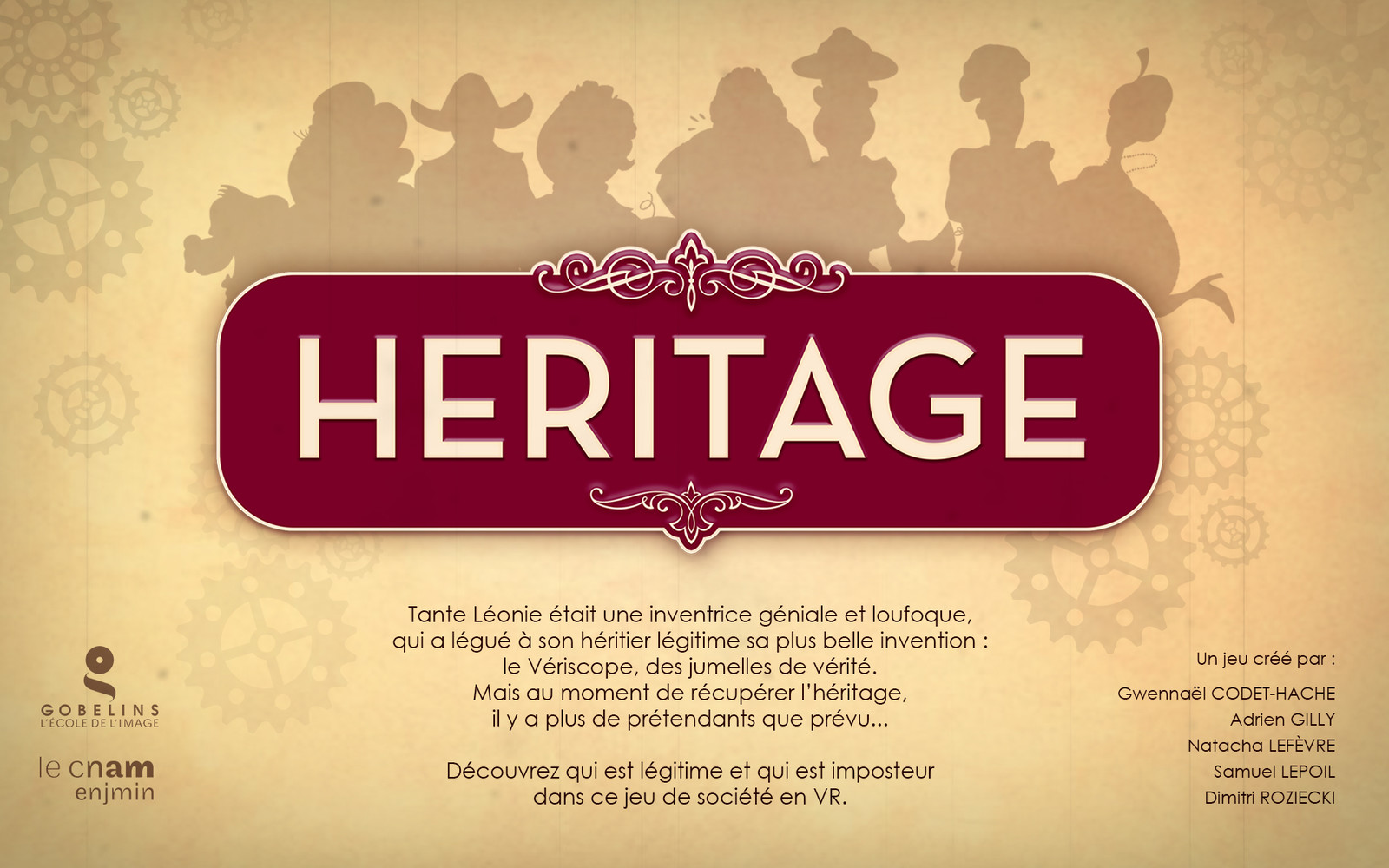 Heritage is a board game in VR, for 4 to 9 players.
