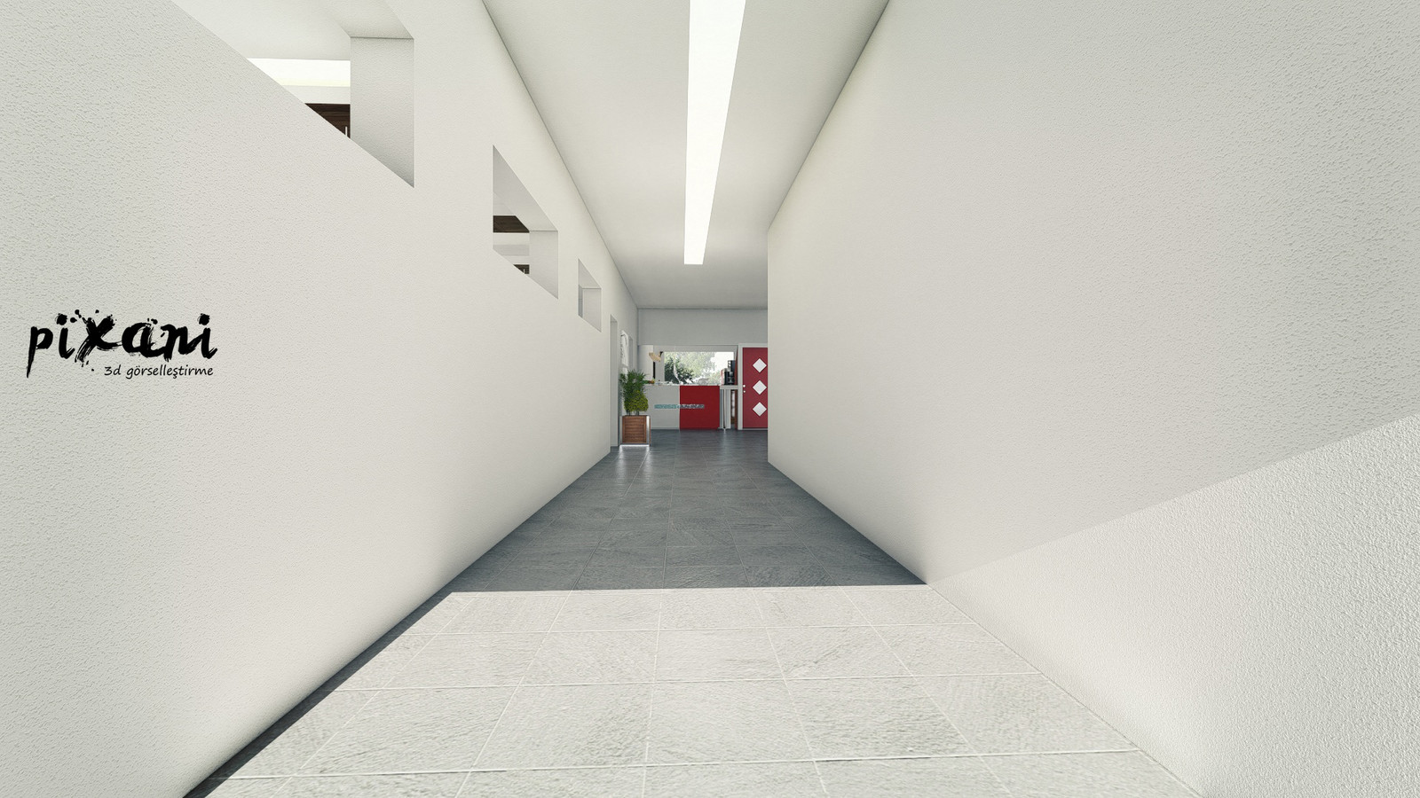 Karebant Refectory entrance hall