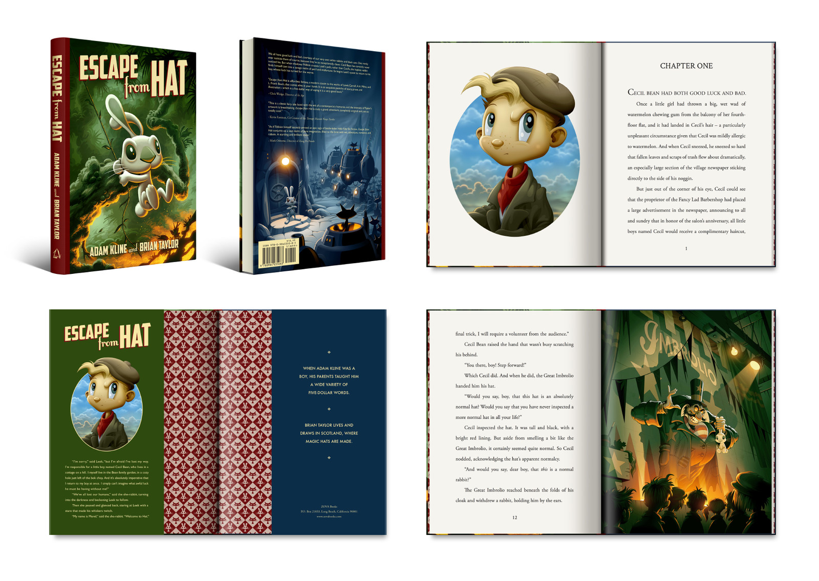 Escape from Hat book layout design