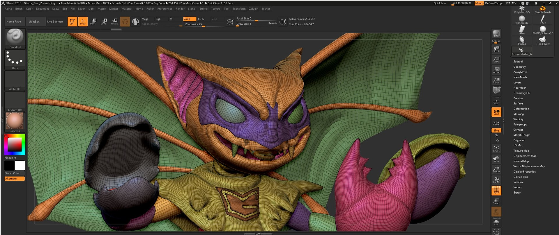 ZBRUSH INTERFASE