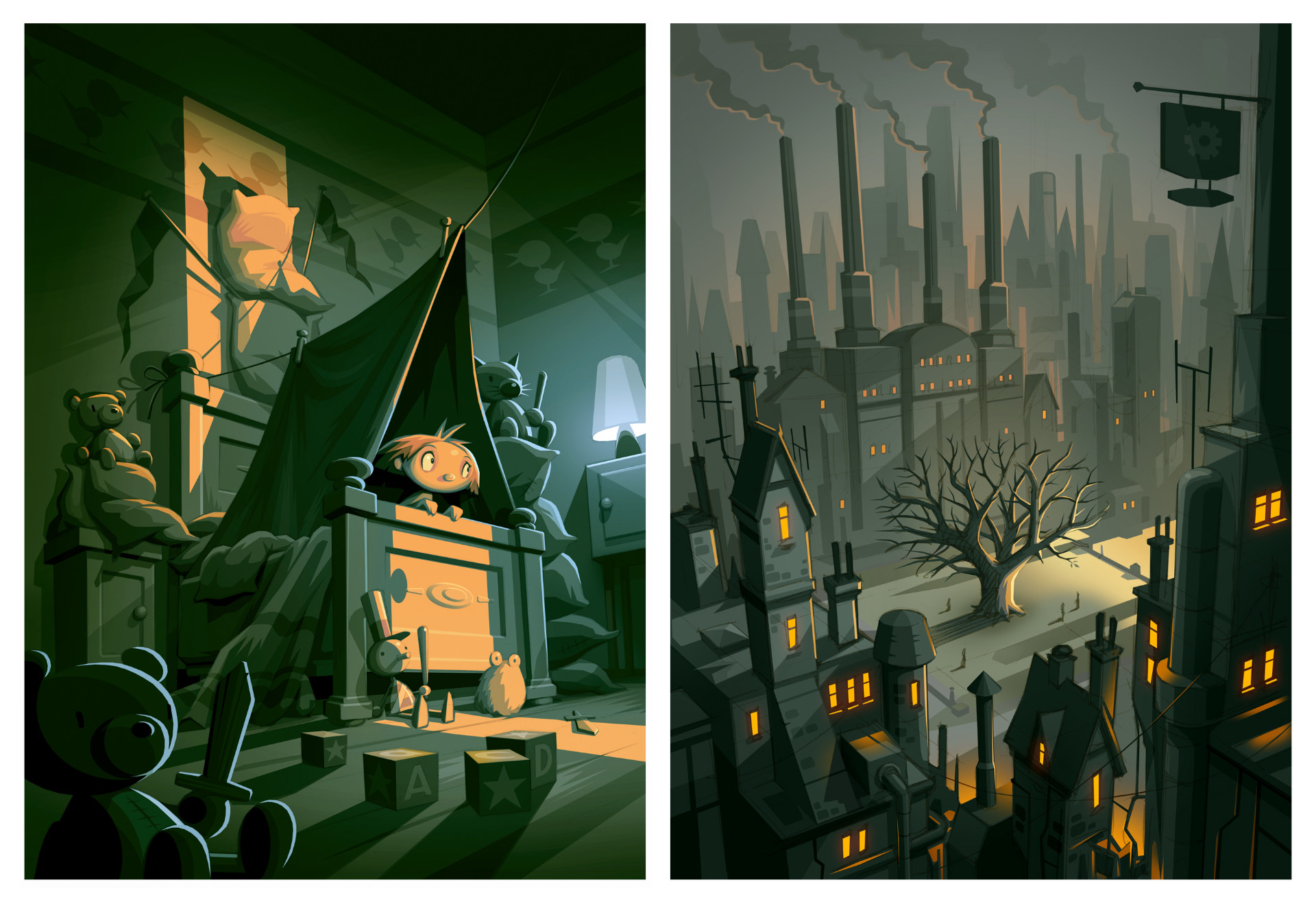 The Fall of Croak illustration concepts