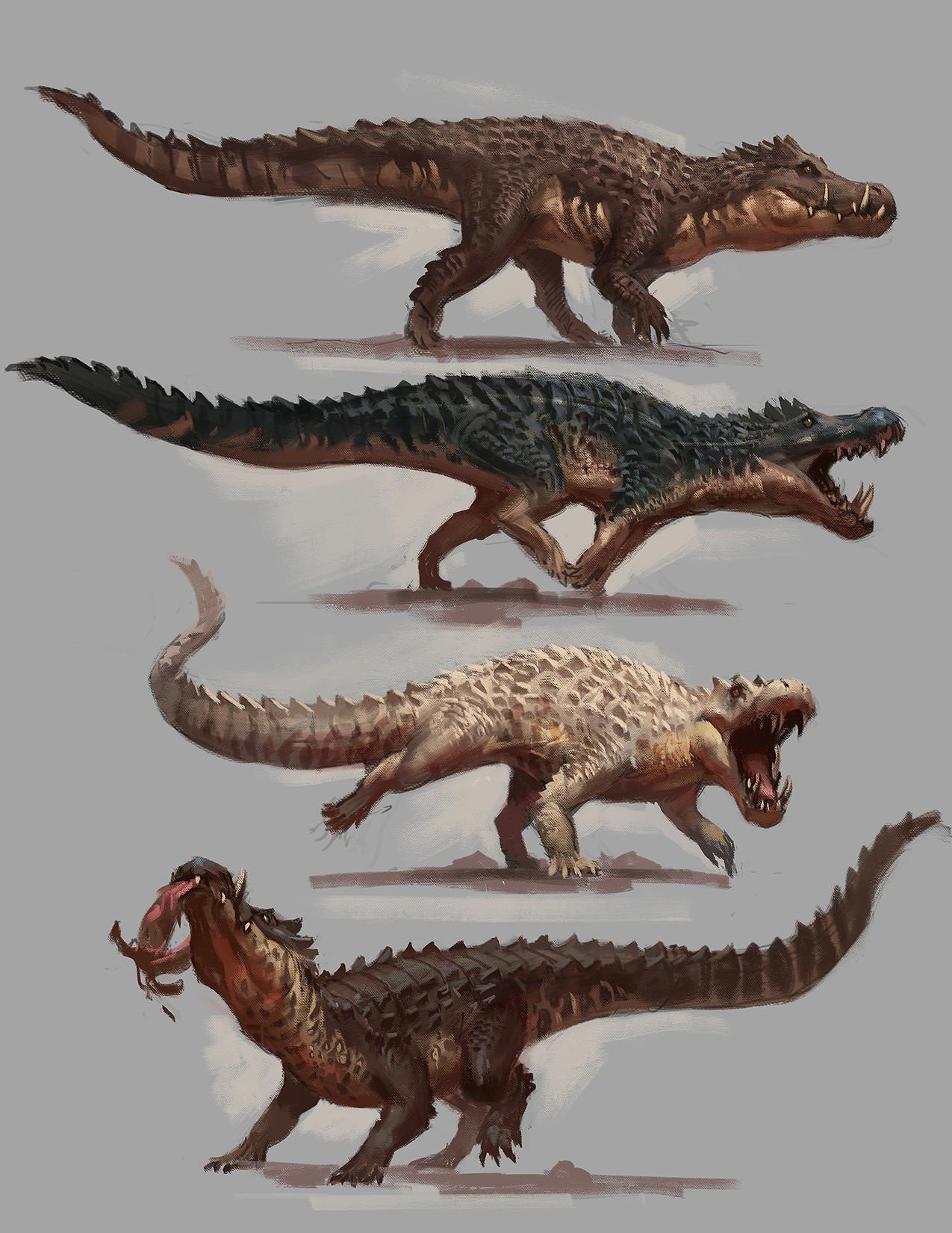 Kaprosuchus color studies