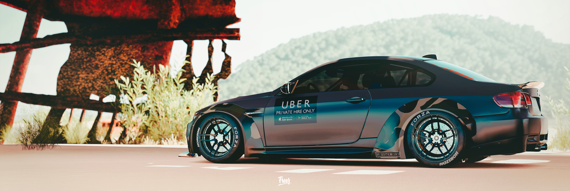 Artstation Bmw M3 E92 Liberty Walk Frz