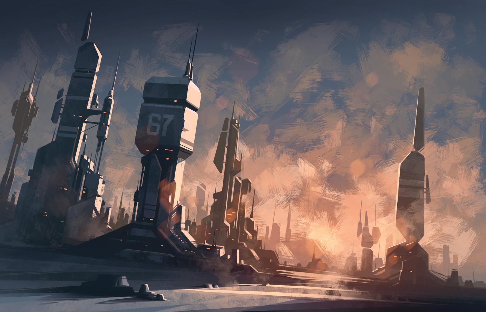Sci-Fi Industrial Landscape