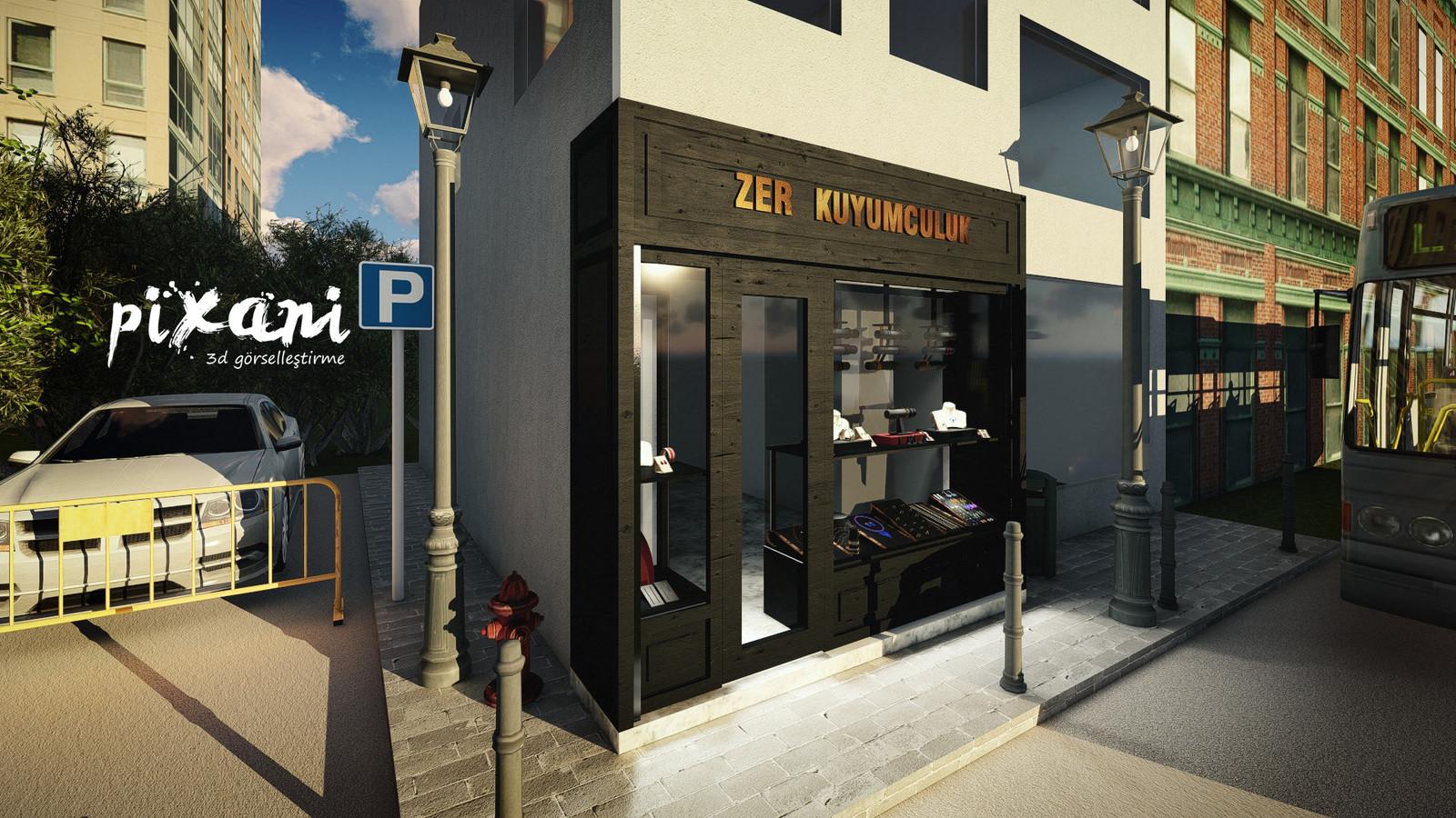 ZER Jewelry Store  Exterior Design