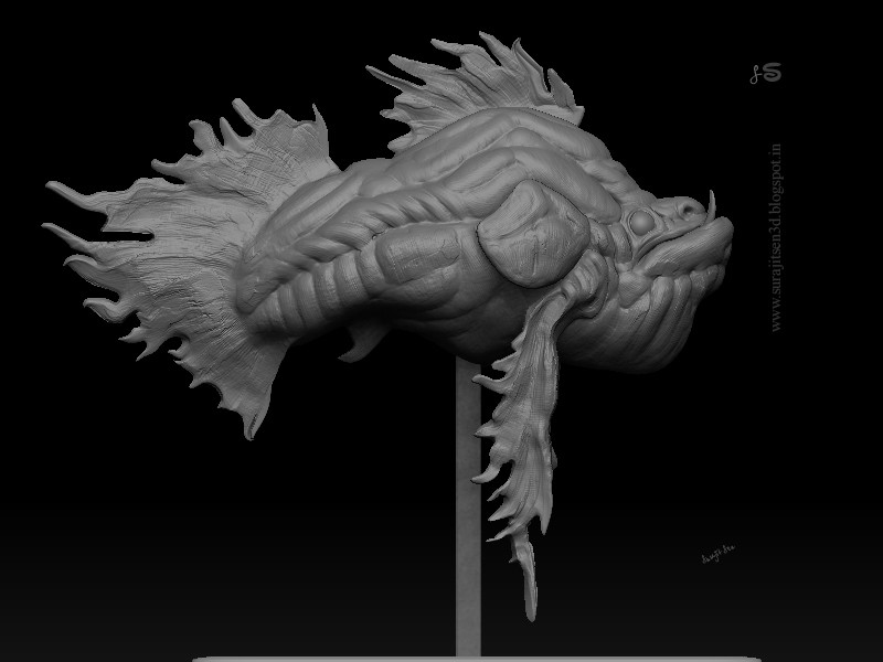 #speedsculpt #study #doodle   My monster is happy!  Orca. ...my speed sculpt study. Wish to share. Tried to make a form of my thoughts. ....