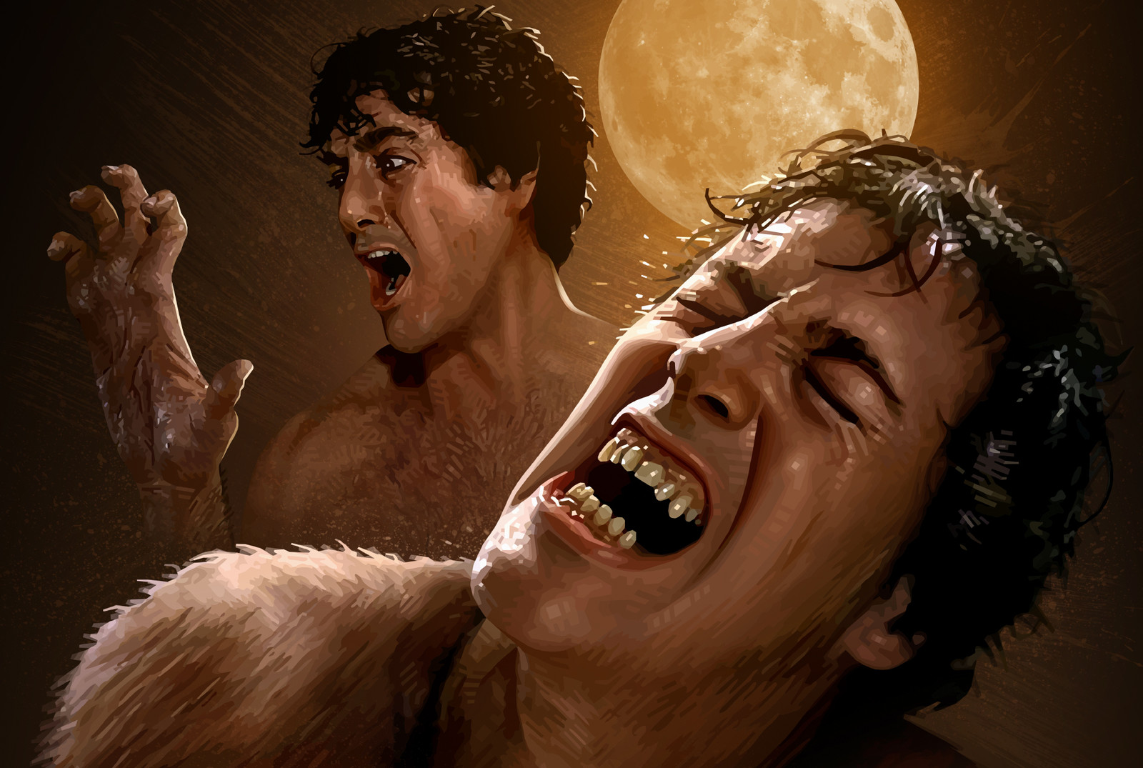 An American Werewolf in London Poster Detail