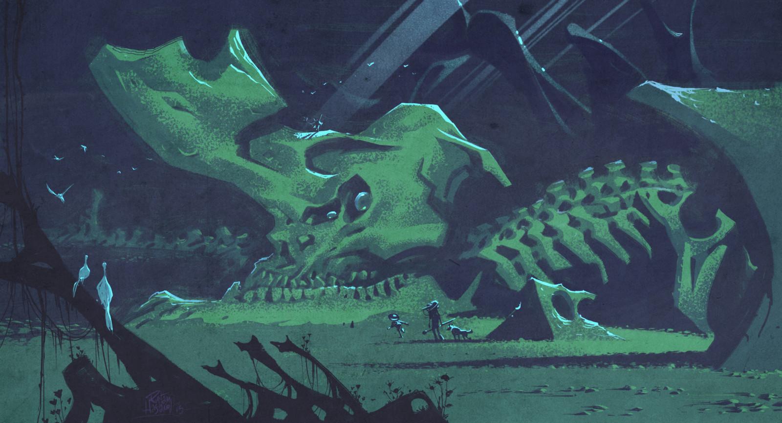 Kaiju graveyard