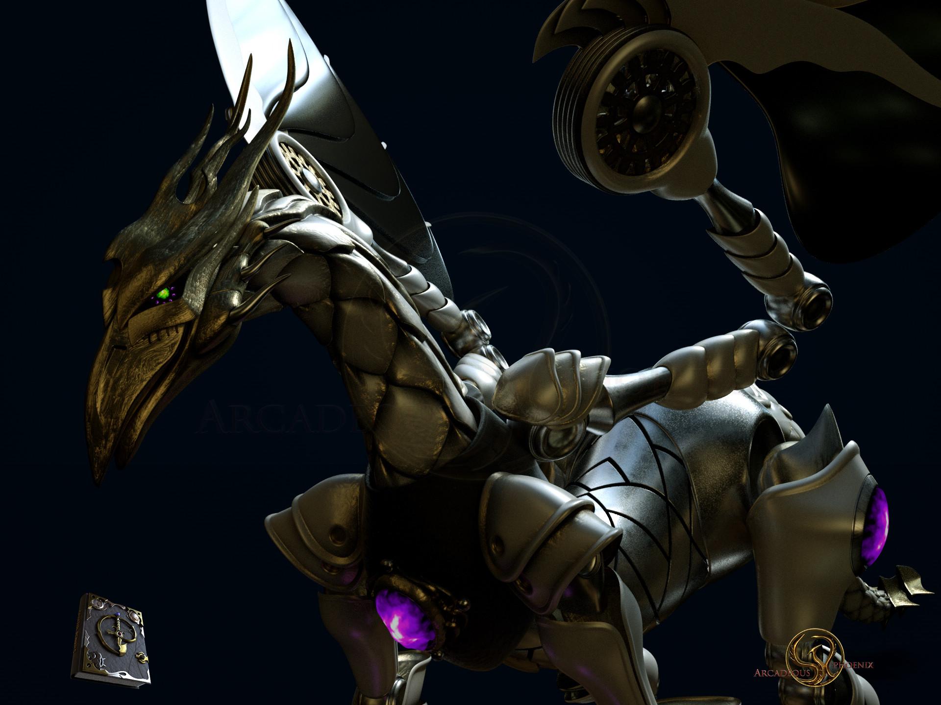 Arcadeous phoenix clockwork dragon 0014b