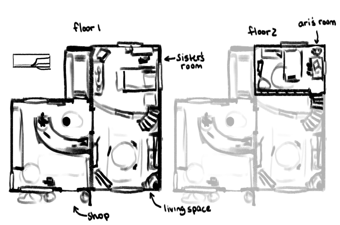 The initial floorplan! It's had some changes to help the outside look a bit more unique.