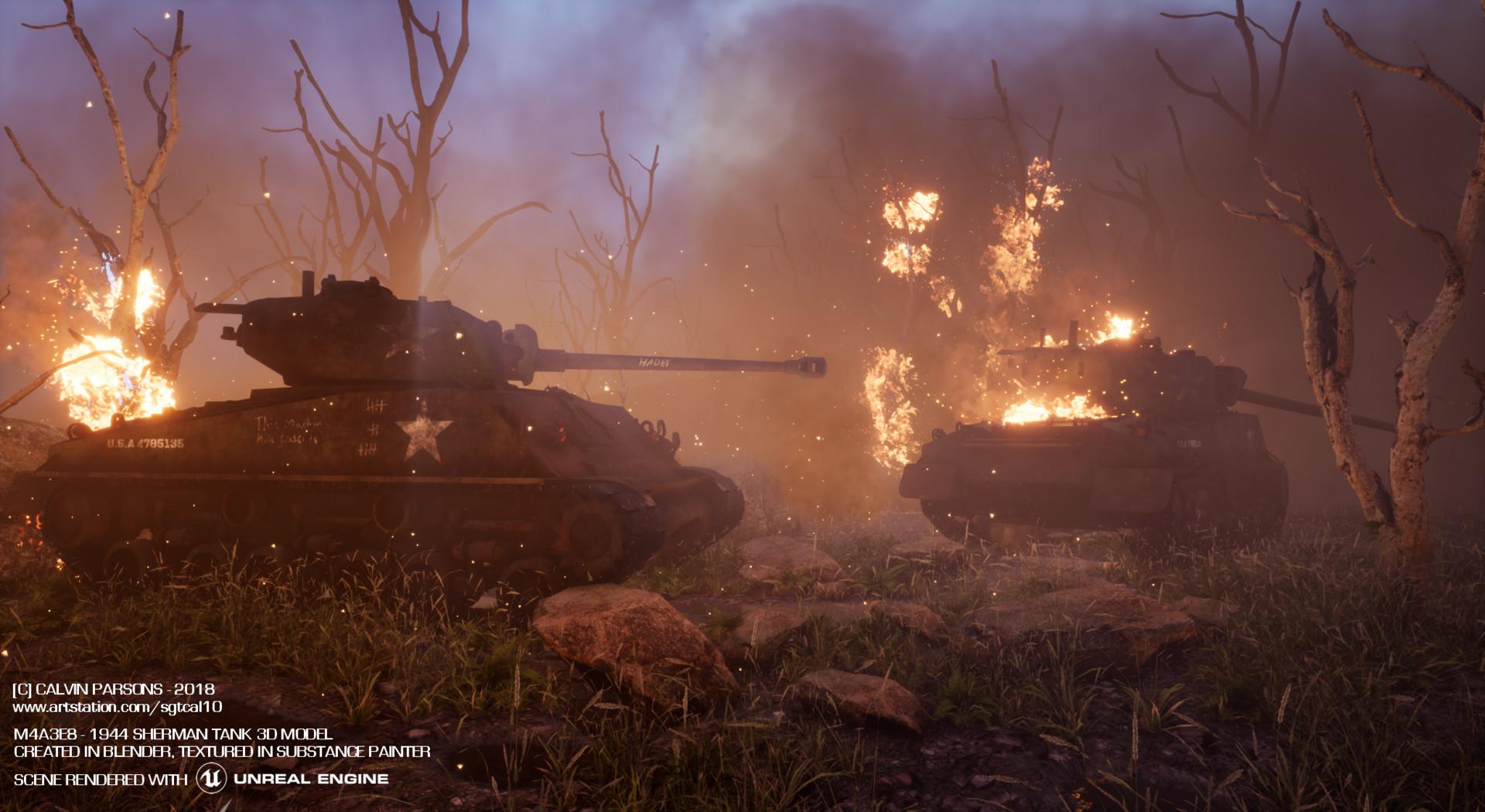 ArtStation - M4A3E8 Unreal Engine Scene , Calvin Parsons