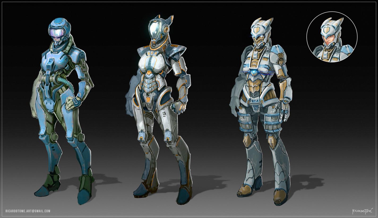 Orion's Hunt - Sci-fi Armor Design