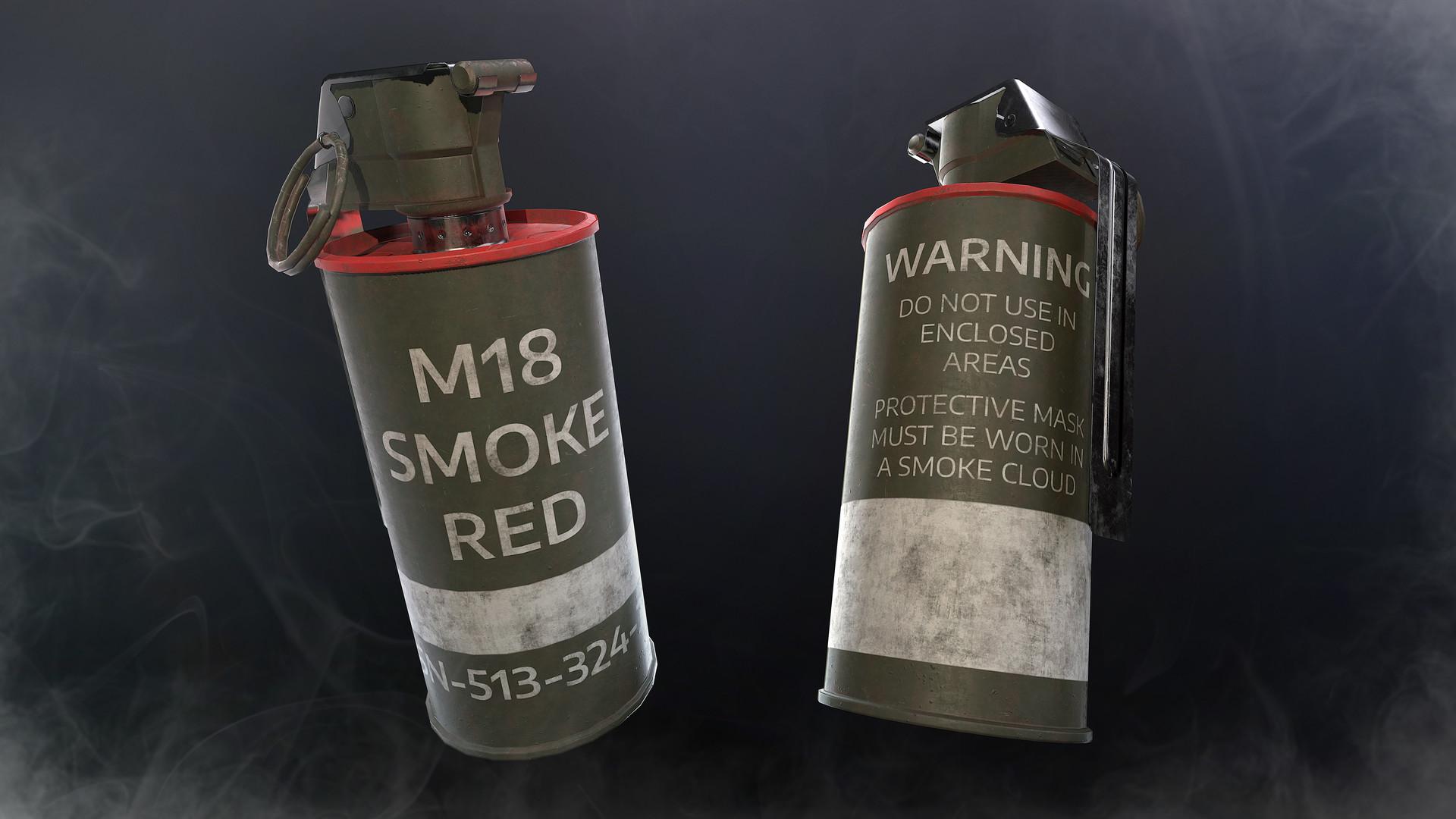 ArtStation - M18 Smoke Grenade, Daniel Volkov