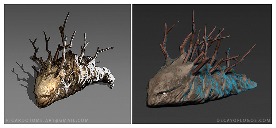 Decay of Logos - Palus Slug Concept and Sculpt