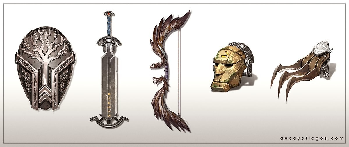 Decay of Logos - Weapon Designs
