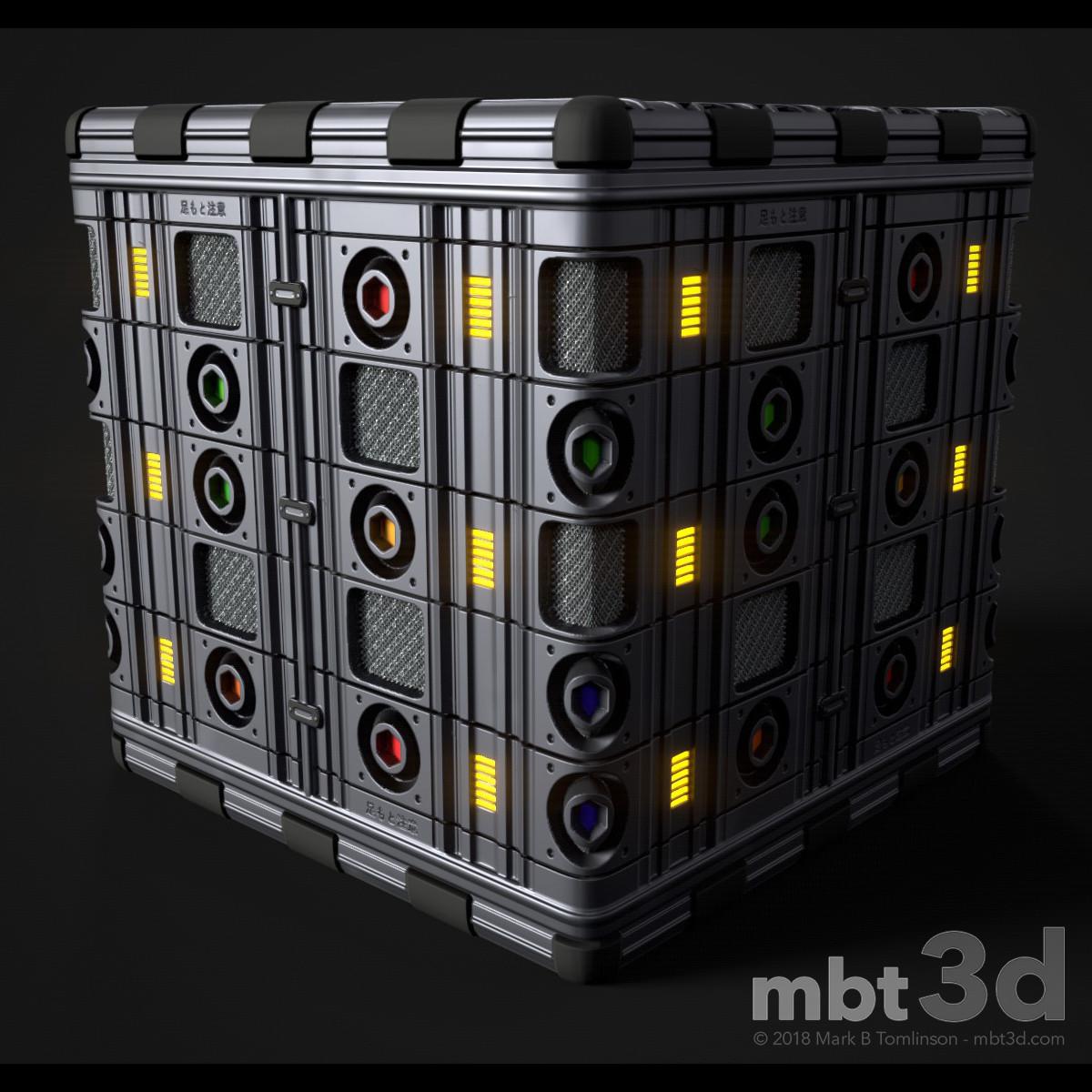 Sci-Fi Column on Cube
