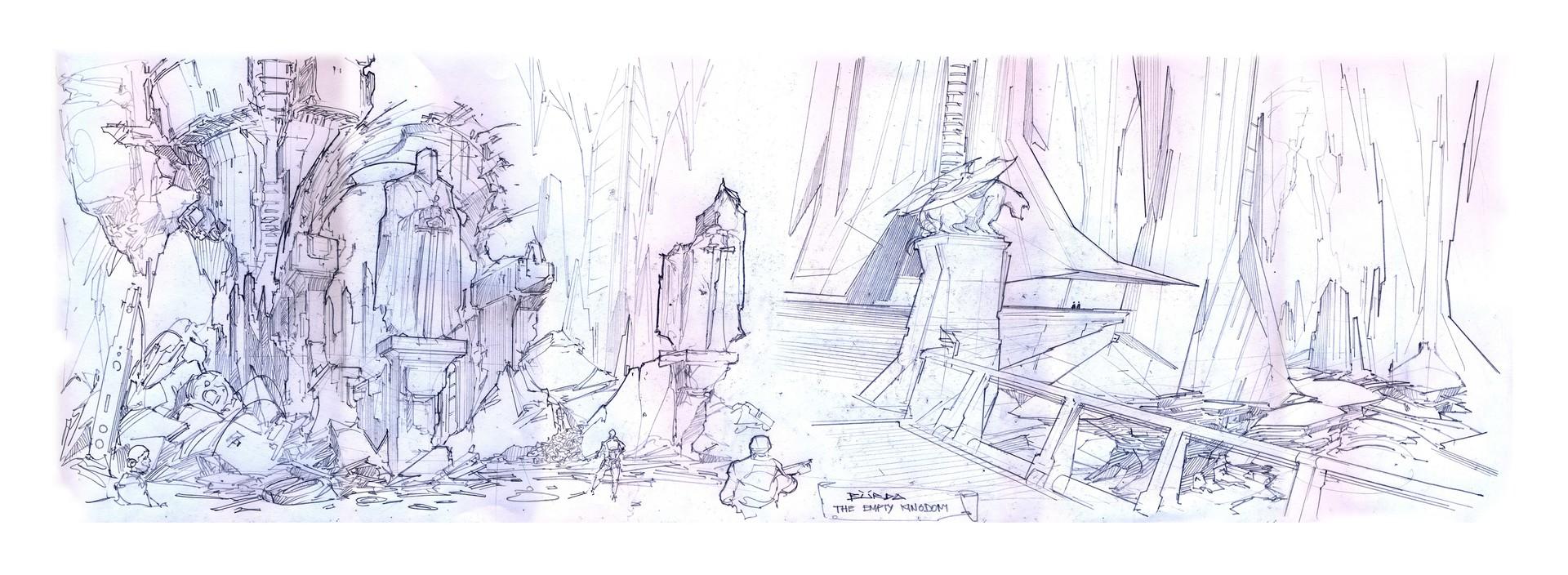 Alejandro burdisio bocetos the empty kingdom lamina7