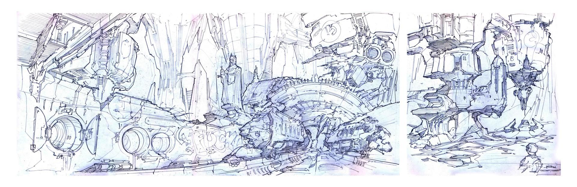 Alejandro burdisio bocetos the empty kingdom lamina6