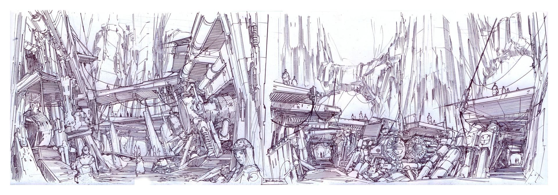 Alejandro burdisio bocetos subsuelos plaza telm1
