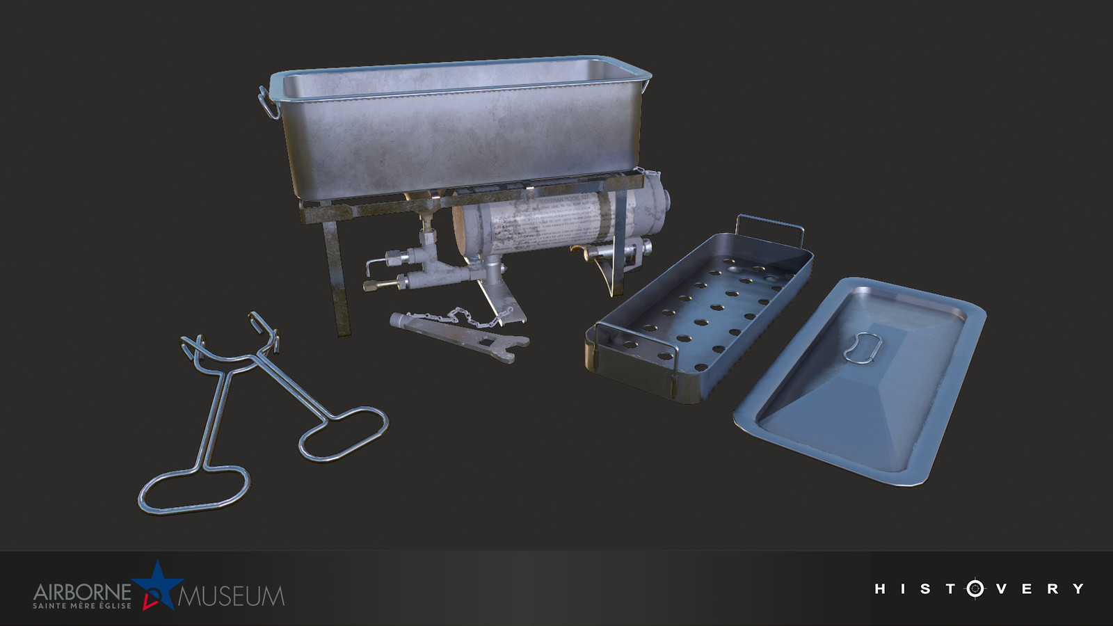 Coleman Sterilizer N. 527, used to sterilize forceps, scalpels, and other equipment.