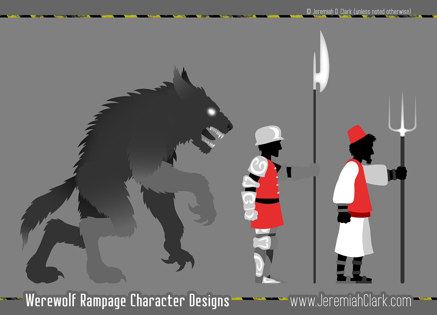 Characters - Original designs. Characters are fully articulated for puppet-style animation.
