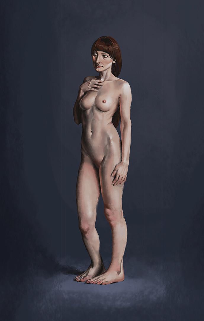 Matt rhodes study standing nude
