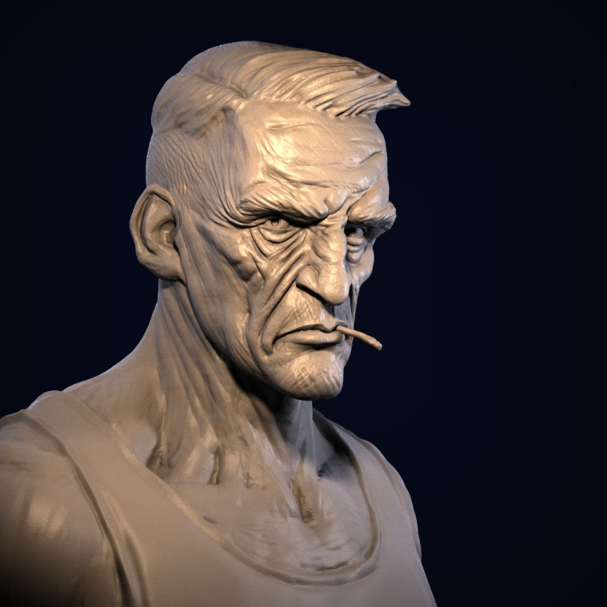 First study - likeness is ok but I could have used some sharper lines and more angles.
