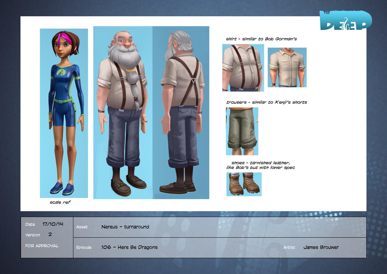 Final character design for Nereus.