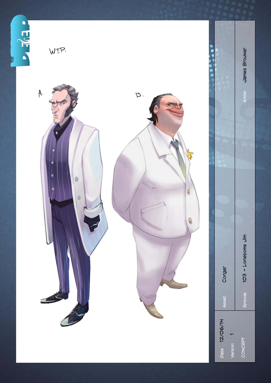 Character concepts for Sebastian Conger.