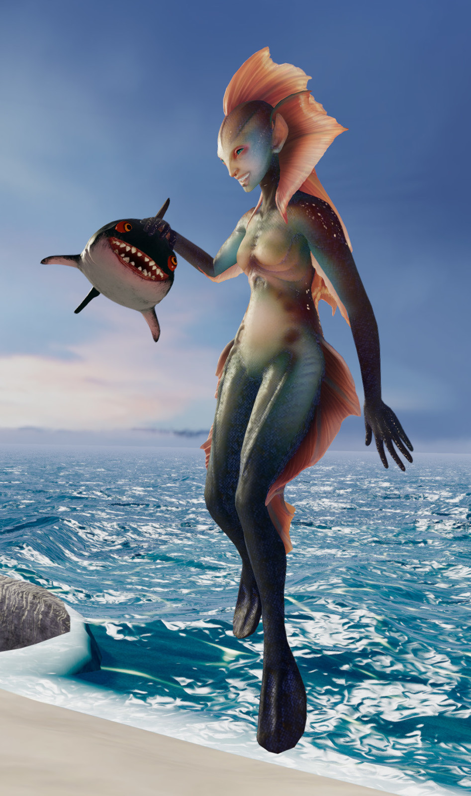 Fish Person original version, captured in the original Fish Person's Cove