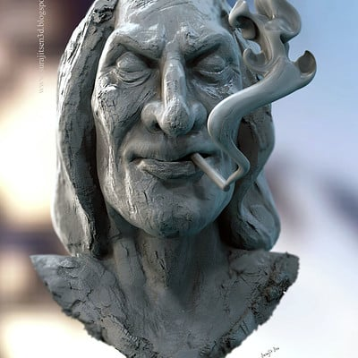 Surajit sen happiness sculpt by surajitsen