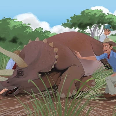 Christopher ables jurassic park sick triceratops