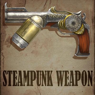 Ahmadreza khaksari steampunk weapon