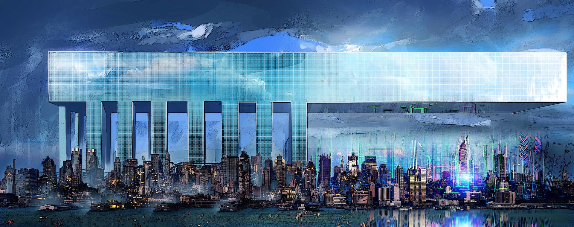 Samuel silverman new york skyline concept