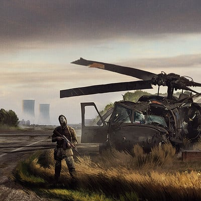 Travis lacey helicopter down survival game concept art travis lacey small
