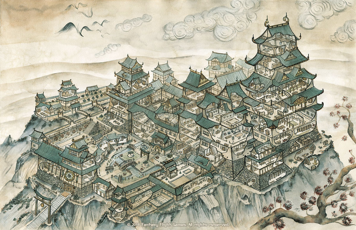 ArtStation - Legend of the Five Rings RPG - Castle Map ... on