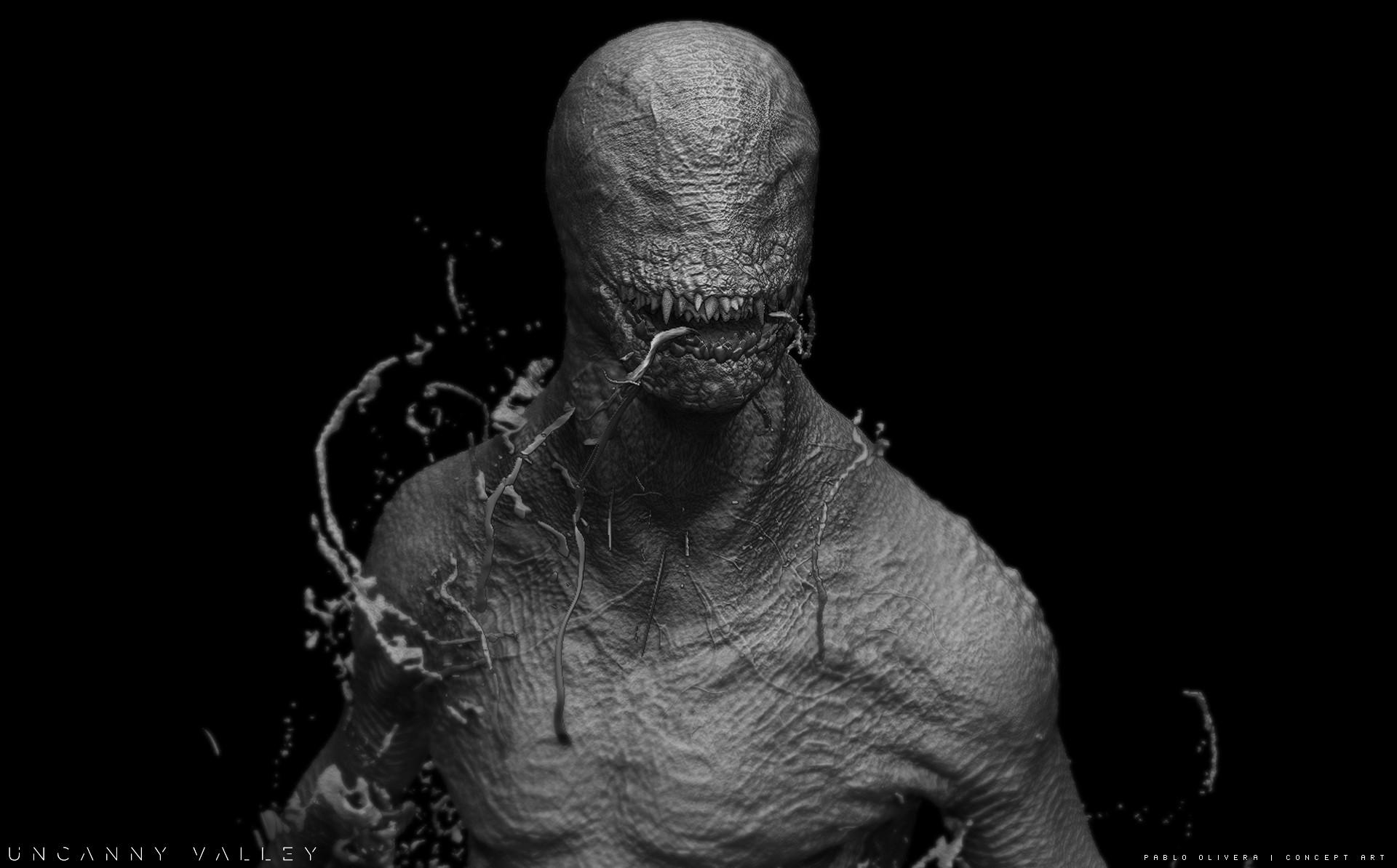 Pablo olivera alien renders concept art digital sculpt 05