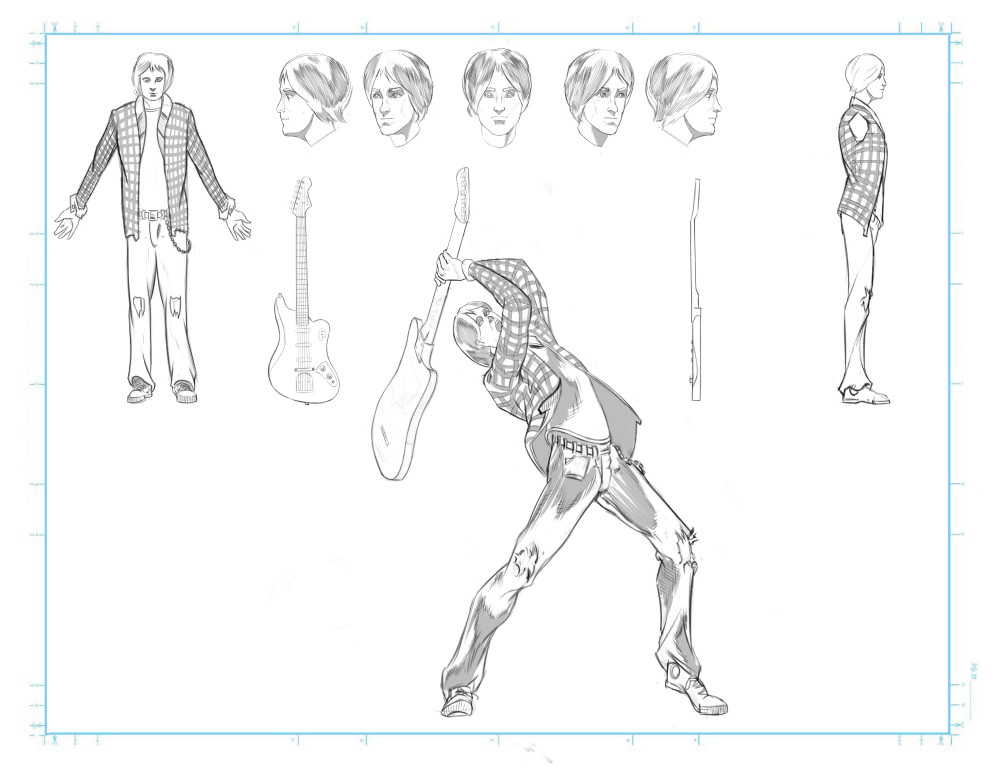 Concept for a character to an rock-themed indie game project #1
