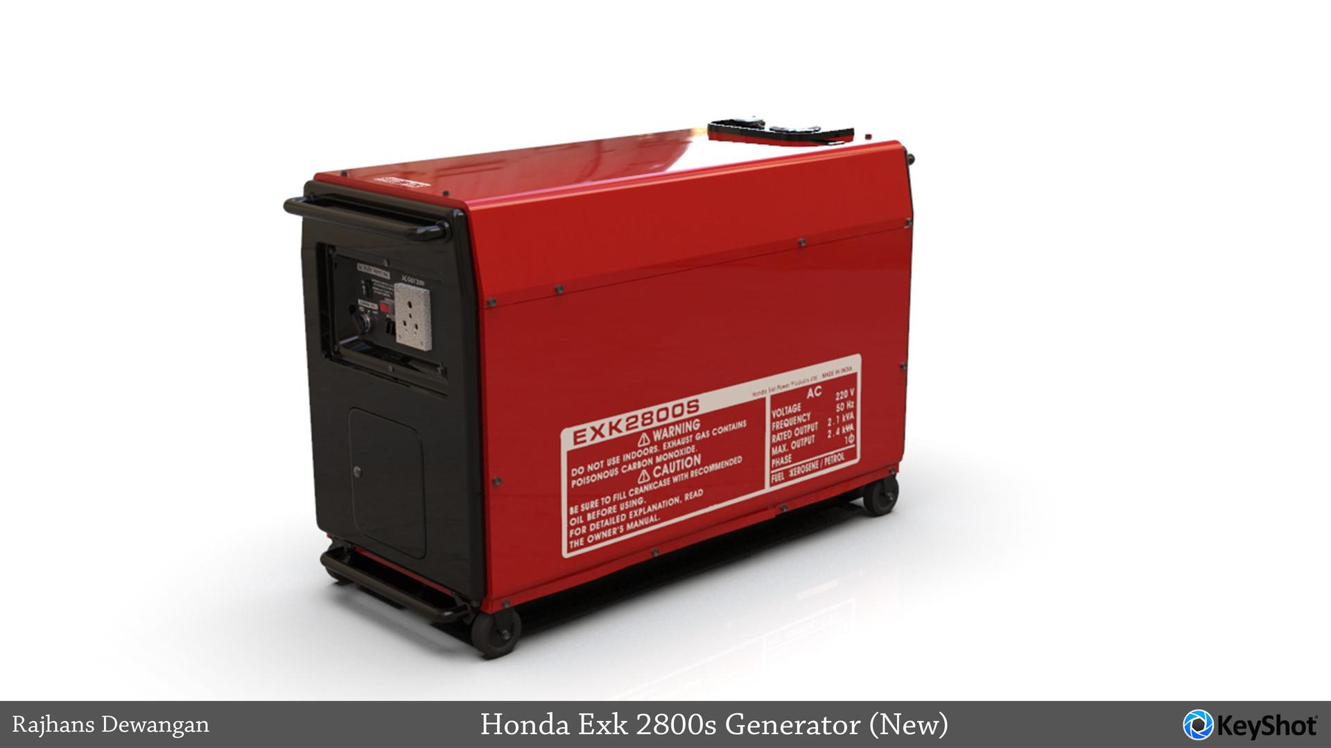 Keyshot Render Honda EXK 2800s Generator