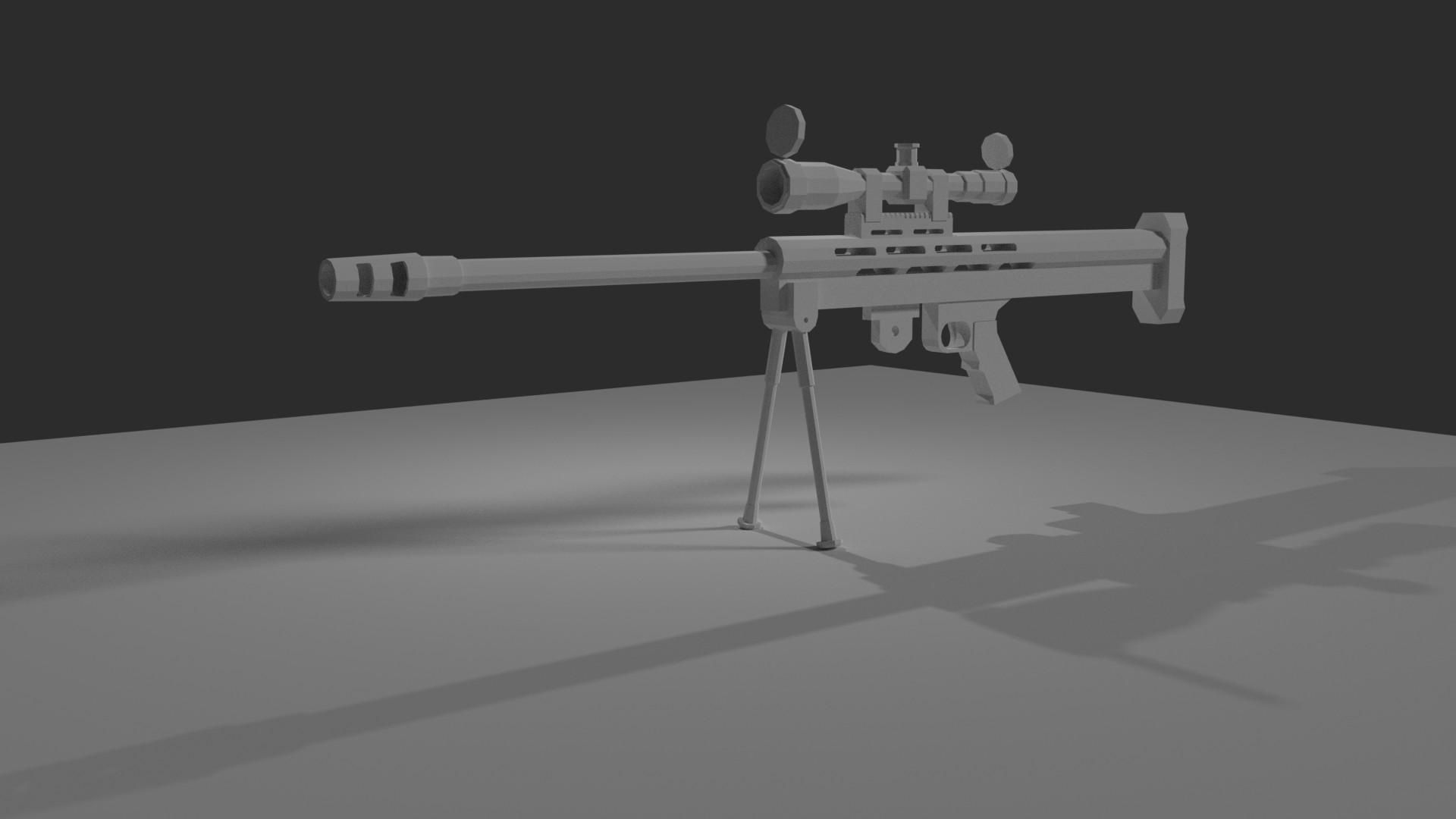 Artstation Lar Grizzly 50 Bmg Rifle Wip Debmalya Mitra