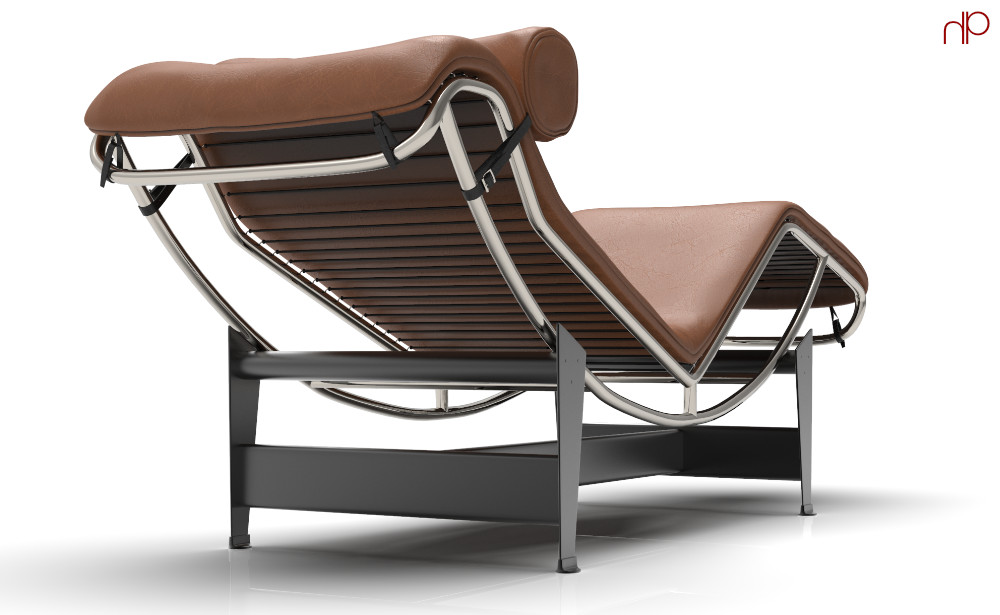 The LC4 Chaise Longue, designed by another one of my favorites: Le Corbusier.  I admire Le Corbusier's use of space, light, and order; not just in his architecture and urban planning, but his overall design intent.