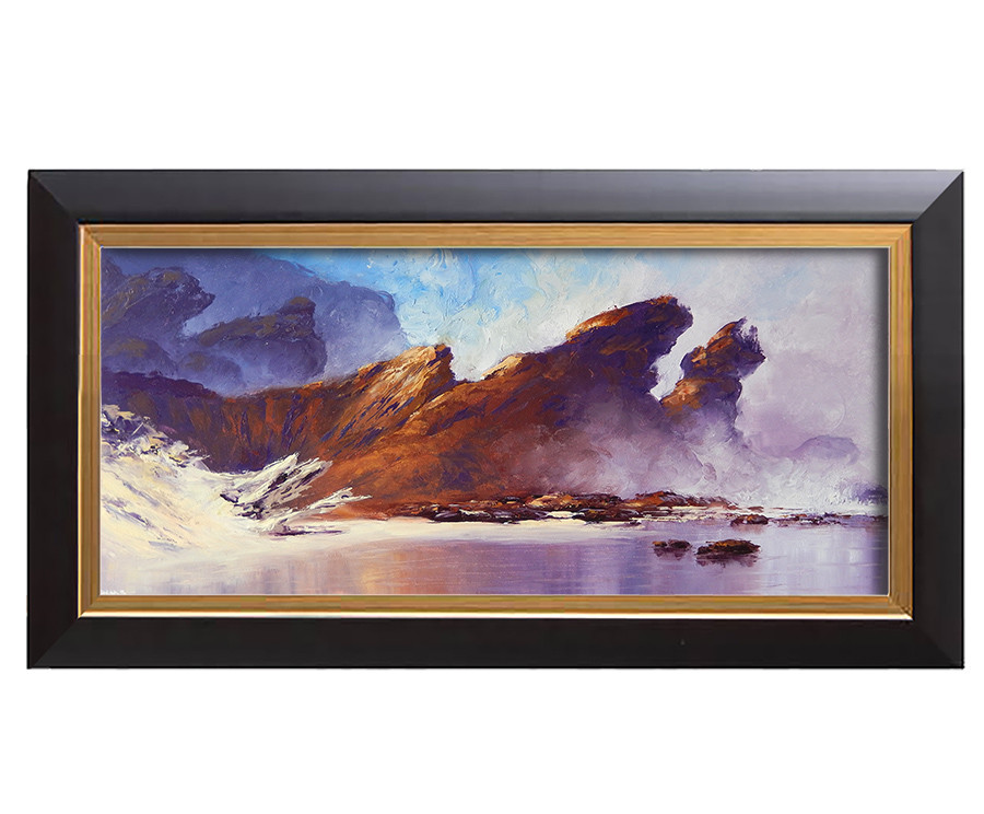 Arthur haas on the rocks ii framed small