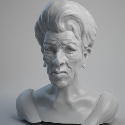 Female Head sculpting