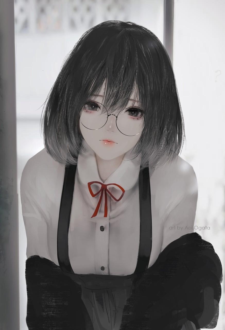 Aoi ogata shorthairglasses2