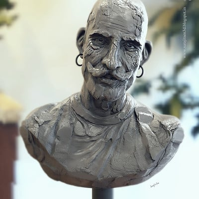 Surajit sen the man quick sculpt by surajit sen