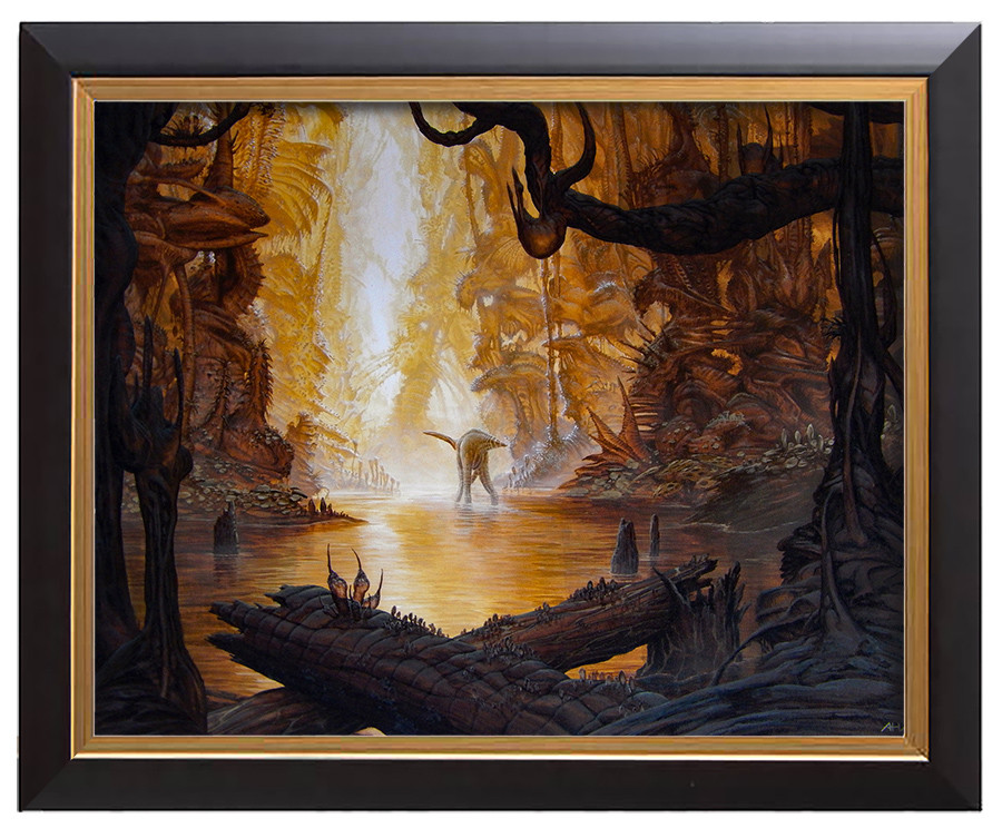 Arthur haas riverscene ii framed small