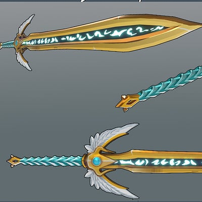 Thomas bokseth render showcase sword