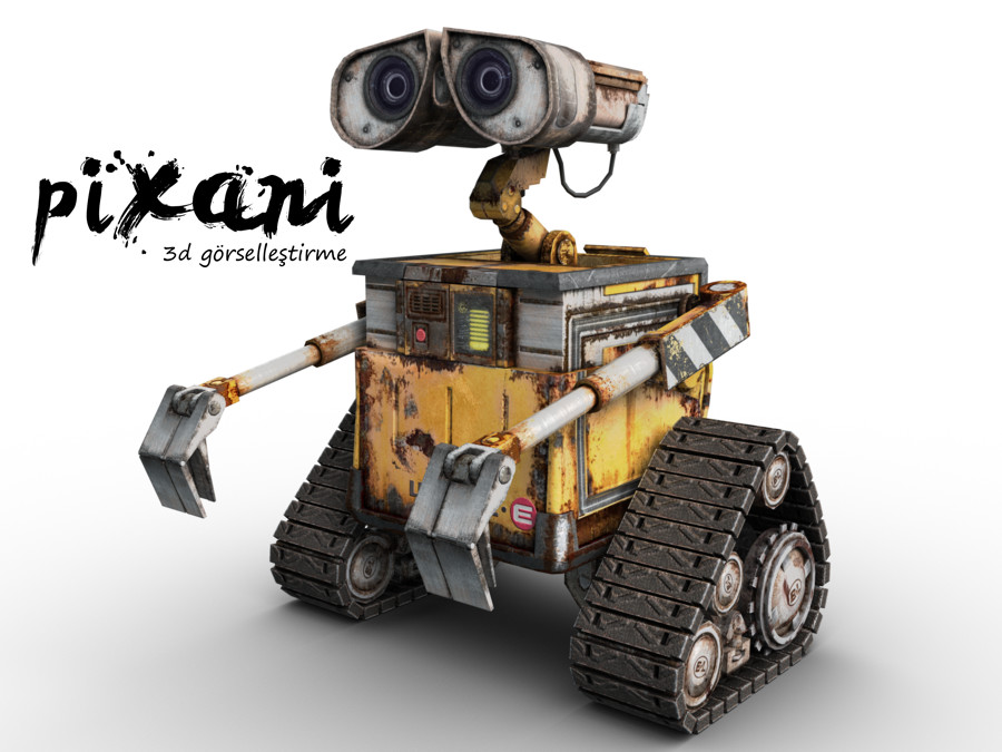 CG Artist: Serdar Çakmak Rendered in Pixani Studios  PIXANI STUDIOS  Pixani 3D Visualization & Animation   www.pix-ani.com info@pix-ani.com  Wall-E all rights reserved in Pixar